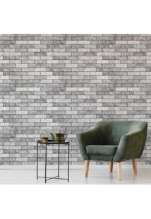 Papel De Parede Tijolos 3D Concreto Rústico Adesivo 57X270Cm
