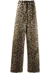 Tom Ford Calça Pantalona Com Estampa De Leopardo - Neutro