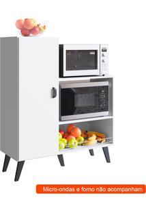 Balcão De Cozinha Para Forno E Micro Ondas Xangai 1 Pt Branco