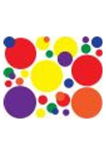 Adesivo De Parede Bolas Coloridas