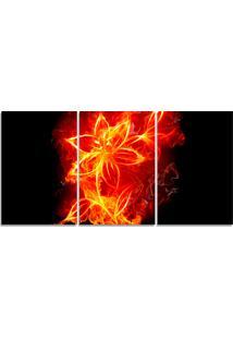 Quadro Decorativo Fogo Flor Vermelha Sala Quarto Casa - Vermelho - Dafiti