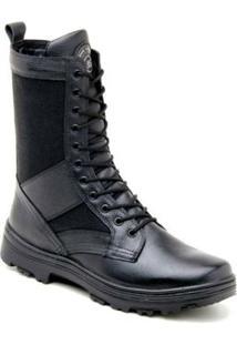 Bota Atron Shoes Coturno Militar Couro - Masculino