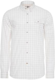 Camisa Masculina Plaid Coolmax - Off White