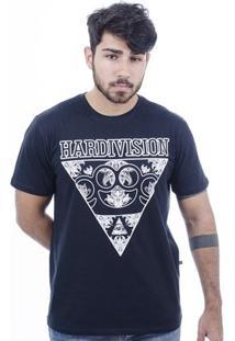 Camiseta Hardivision Illuminart Manga Curta - Masculino-Preto