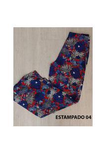 Calça Miss Misses Pantalona Estampado Azul