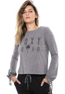 Camiseta Roxy Bond Tree Cinza