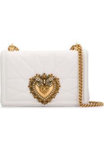 Dolce & Gabbana Bolsa Transversal Devotion Média - Branco