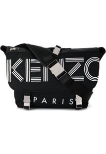Kenzo Logo Side Bag - Preto