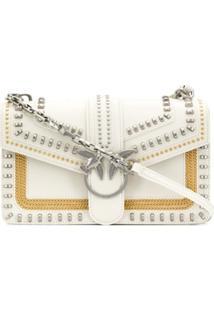 Pinko Love Stud-Embellished Crossbody Bag - Branco