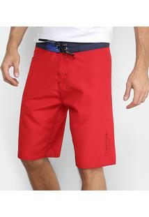Bermuda D'Água Calvin Klein Básica Masculina - Masculino-Vermelho