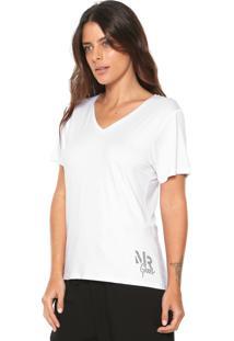 Camiseta Morena Rosa Básica Branca