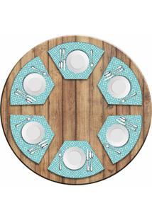 Jogo Americano Love Decor Para Mesa Redonda Wevans Geometric Kit Com 6 Pçs