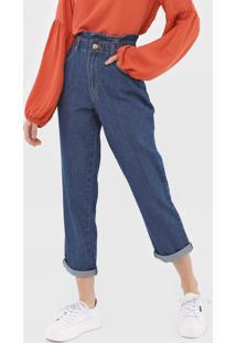 Calça Jeans Dzarm Reta Lisa Azul