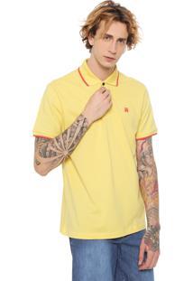 Camisa Polo John John Reta Primrose Amarela