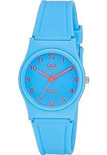 Relógio Qq De Pulso Analógico Vp34J064Y Feminino - Feminino-Azul Claro