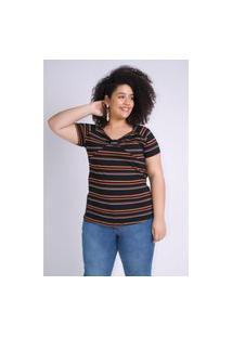 Blusa Decote Laço Plus Size Preto Blusa Decote Laço Plus Size Preto M Kaue Plus Size