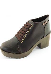 Bota Coturno Quality Shoes Feminina Marrom 40
