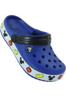 Crocs Crocband Infantil Mickey Clog Masculino - Masculino-Azul