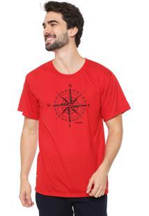 Camiseta Eco Canyon Rosa Dos Ventos Vermelho