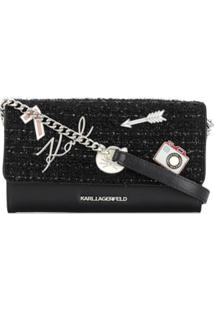 Karl Lagerfeld Logo Plaque Shoulder Bag - Preto