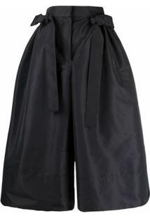Alexander Mcqueen High-Waisted Voluminous Trousers - Preto