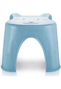 Banquinho Banco Anatômico Infantil Criança Com Formato De Ursinho Jacki Design Azul