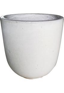 Vaso Egg Rústico- Branco- 31Xø26Cm- Companhia Dacompanhia Das Folhas