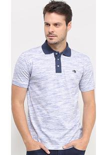 Camisa Polo Gajang Estonada Manga Curta Masculina - Masculino-Marinho