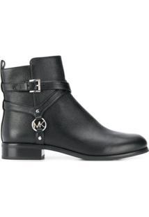 Michael Michael Kors Ankle Boot Preston Com Fivela - Preto