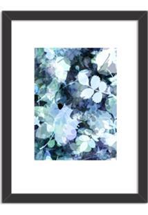 Quadro Decorativo Azul Abstrato Branco Preto - Grande