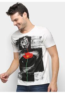 Camiseta Derek Ho Rose Eye Masculina - Masculino-Off White