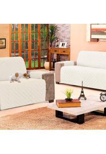Kit 2 Protetores De Sofá: 2 E 3 Lugares Impermeável Casa Dona Branco