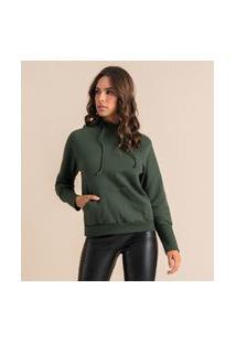 Blusão Feminino Em Moletom Endless Verde