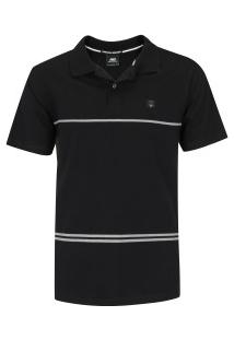 Camisa Polo Hd Simple Stripe - Masculina - Preto