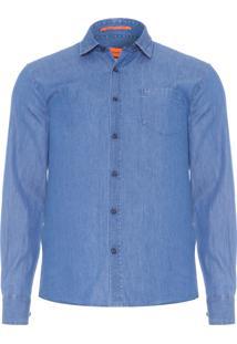 Camisa Masculina Denim - Azul