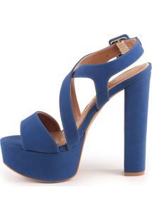 Sandália Sasha 1040-80700 Nobuck Paula Brazil Azul