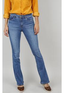 7e6131b97 ... Calça Jeans Feminina Boot Cut Cintura Média Azul