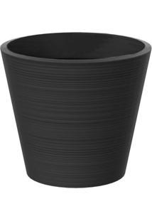 Vaso Decorativo De Plástico Baixo Linea 51Cmx58Cm Japi Chumbo