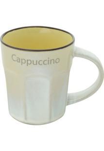 """Caneca Allure """"Capuccino""""- Branca & Amarela- 270Ml"""