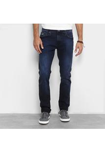 Calça Jeans Reta Colcci Estonada Masculina - Masculino-Azul Escuro