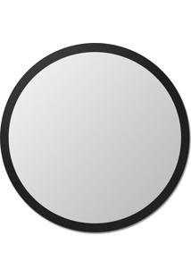 Espelho De Parede Redondo Edge - 110 Borda Preta Vidrotec