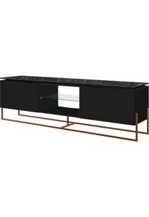 Rack Dock 1,80 Mt (Larg) Cor Marquina Com Preto Base Cobre - 58082 - Sun House