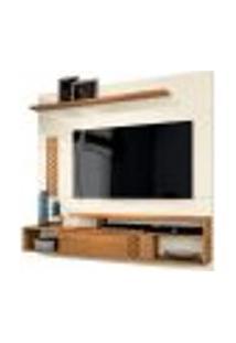 Painel Home Suspenso Para Tv Até 60 Polegadas Sala De Estar Bless New Off White/Coral - Frade Movelaria