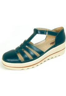 Sandália Plataforma Miuzzi Aberta Confort - Kanui