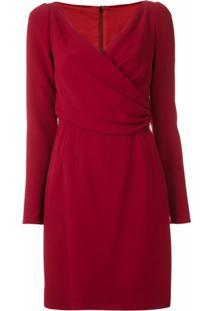 Dolce & Gabbana Vestido Curto Com Transpasse Drapeado - Vermelho