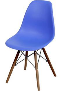 Cadeira Eames Polipropileno Azul Escuro Base Escura - 44838 Sun House