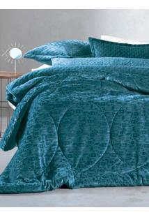 Edredom Solteiro Altenburg Blend Elegance Azul Marinho/Azul