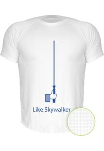 Camiseta Manga Curta Nerderia Like Skywalker Branco