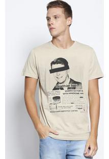 "Camiseta ""Healthier Hair"" - Bege & Preta - Colccicolcci"