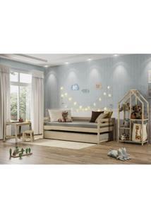 Quarto Infantil Bicama Prime C/Estante Escrivaninha E Luz - Casatema